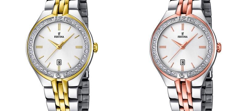 Vďaka farebnej kombinácii striebra a zlata majú hodinky luxusný vzhľad a9698c76659